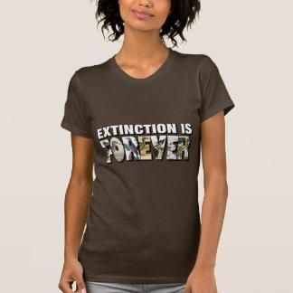 Het uitsterven is voor altijd t shirt