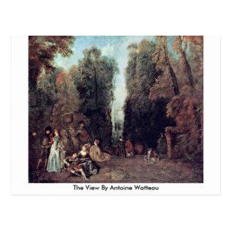 Het uitzicht door Antoine Watteau Briefkaart