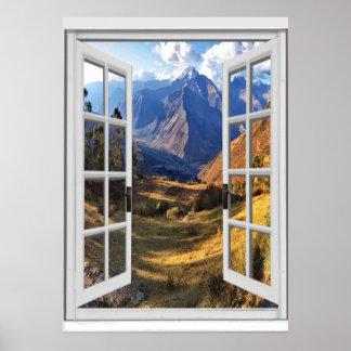 Het Uitzicht Trompe van de Pieken van de berg - Poster