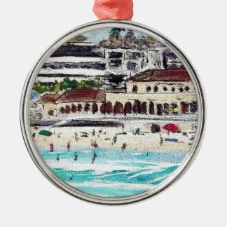 Het Uitzicht van Bondi Zilverkleurig Rond Ornament