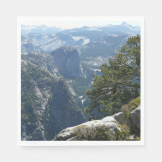 Het Uitzicht van de Berg van Yosemite in Nationaal Papieren Servetten