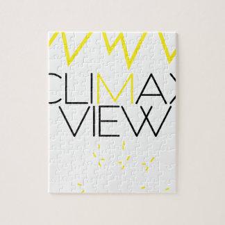 Het uitzicht van de climax (Geel en zwart) Puzzel