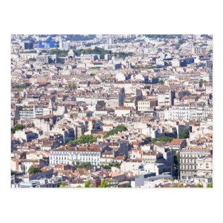 Het Uitzicht van de stad in Marseille Briefkaart