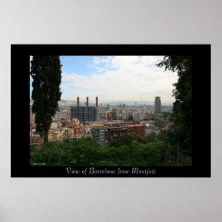 Het Uitzicht van de Stad van Barcelona Poster