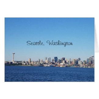 Het Uitzicht van de Stad van Seattle Washington Kaart