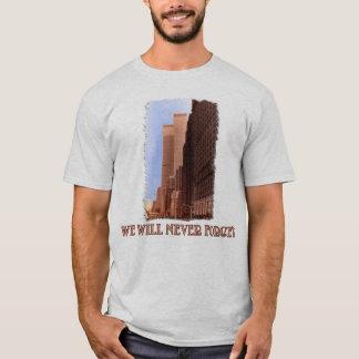 Het Uitzicht van de Straat WTC vergeet nooit 9/11 T Shirt