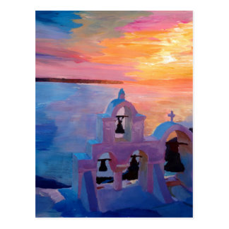 Het Uitzicht van Griekenland van Santorini van Oia Briefkaart