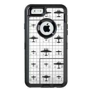 Het Uitzicht van het gezoem van de Silhouetten van OtterBox Defender iPhone Hoesje