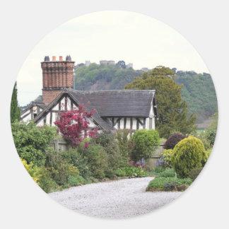 Het Uitzicht van het Kasteel van Beeston Ronde Sticker