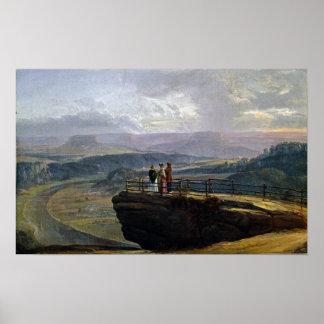 Het Uitzicht van Johan Christian Dahl van Bastei Poster