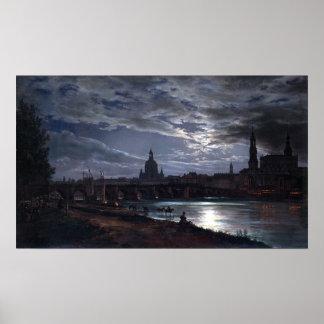 Het Uitzicht van Johan Christian Dahl van Dresden Poster