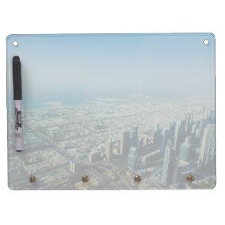 Het uitzicht van Khalifa van Burj, Doubai Whiteboard Met Sleutelhanger