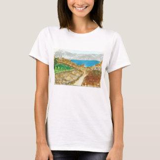 Het Uitzicht van Mykonos van Delos dichtbij de T Shirt
