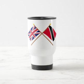 het UK en Trinidad & Tobago Gekruiste Vlaggen Reisbeker