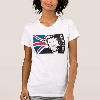 het UK rouwt Margaret Thatcher, de Dame van het T-shirt