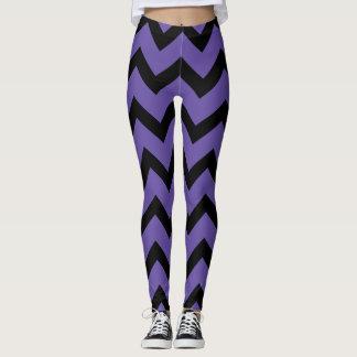 Het ultraviolette paarse Zwarte patroon van de Leggings