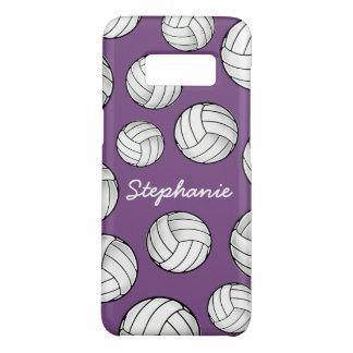 Het unieke Paarse Volleyball van de Naam van de Case-Mate Samsung Galaxy S8 Hoesje