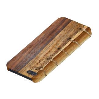 Het unieke van blik-hout & koordhoesje boekbindeni iPhone 5 hoesje