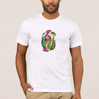 Het unisex- Vintage T-shirt van de Druk Nepenthes