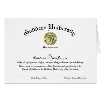 Het Universitaire Klantgerichte Diploma van de Wenskaart