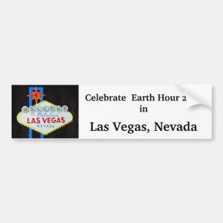 Het Uur van de aarde in Las Vegas Bumpersticker