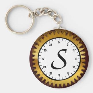 Het Uurwerk Keychain van de brief S Sleutelhanger