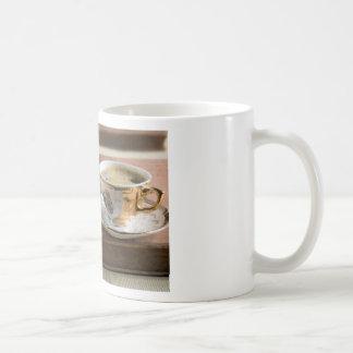 Het vaatwerk van het porselein van de 19de eeuw koffiemok