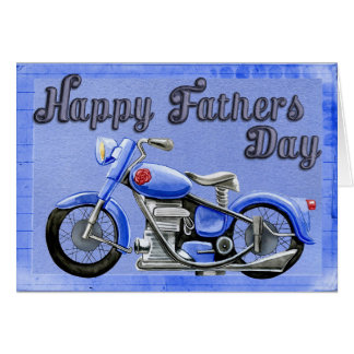Het Vaderdag van de motorfiets Wenskaart
