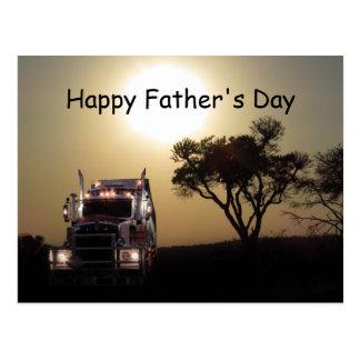 Het Vaderdag van vrachtwagenchauffeurs Briefkaart