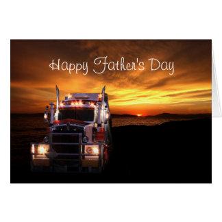 Het Vaderdag van vrachtwagenchauffeurs Wenskaart