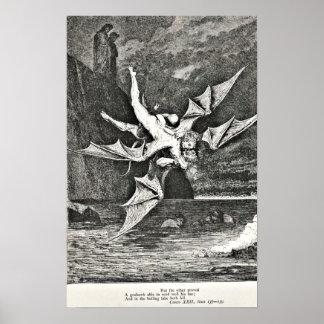 Het Vagevuur Gustave Dore Illustration Demons van  Poster