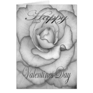 Het Valentijnse wit en de zwarte van de Bloem Kaart