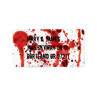 Het valse Bloed ploetert Etiket