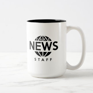 Het valse Personeel van het Nieuws Tweekleurige Koffiemok