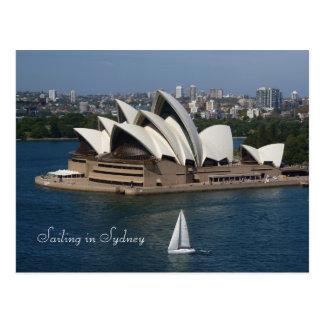 Het varen in Sydney Briefkaart