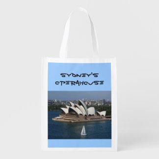 het varen in Sydney Herbruikbare Boodschappentas