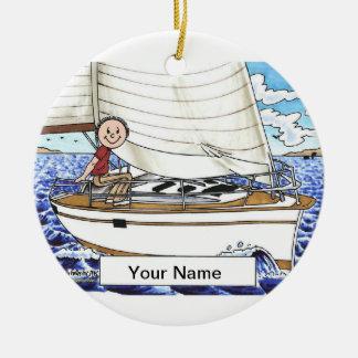 Het varen - Mannetje Rond Keramisch Ornament