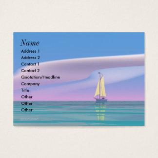 Het varen Mollig Blauw - Visitekaartjes