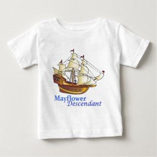 Het Varende Schip van de Nakomeling van Mayflower Baby T Shirts
