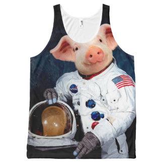 Het varken van de astronaut - ruimteastronaut All-Over-Print tank top