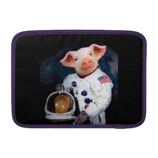 Het varken van de astronaut - ruimteastronaut beschermhoes voor MacBook air