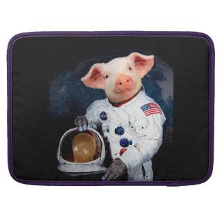 Het varken van de astronaut - ruimteastronaut MacBook pro sleeve