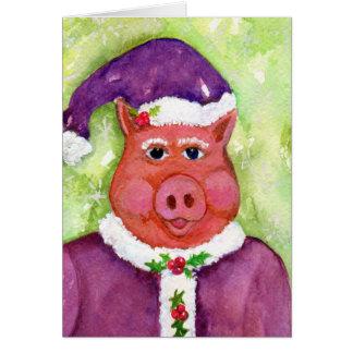 Het Varken van Kerstman in de Paarse KAART van de