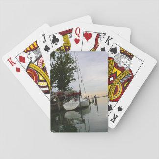 Het vastgelegde ontwerp van de Boot Speelkaarten