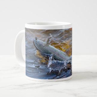 Het vechten de Forel van de Regenboog Grote Koffiekop