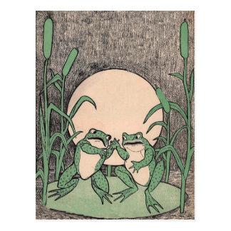 Het vechtende Groene Stootkussen van de Lelie van Briefkaart