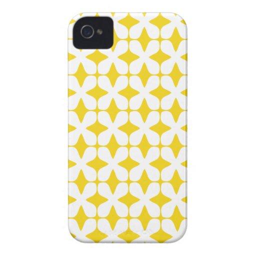 Het vector Citroengele Geval iPhone4S van het Patr iPhone 4 Case-Mate Hoesjes