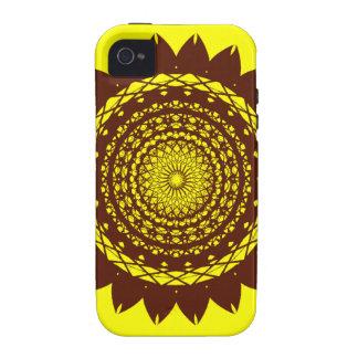 Het Vector (geel/bruine) Ontwerp van de abstracte  iPhone 4/4S Hoesje