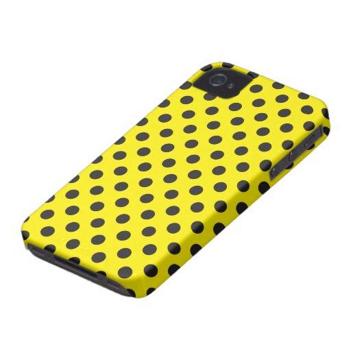 Het vector Gele & Zwarte Geval van iPhone van de S iPhone 4 Covers