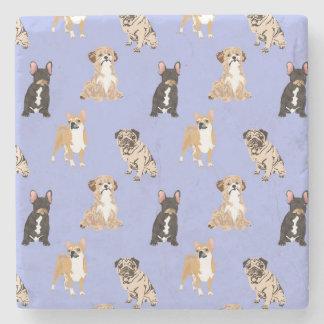 Het Vector Naadloze Patroon van honden Stenen Onderzetter